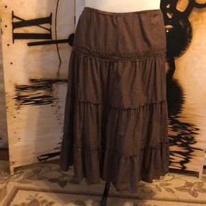Cute Boho Broomstick Maxi Skirt